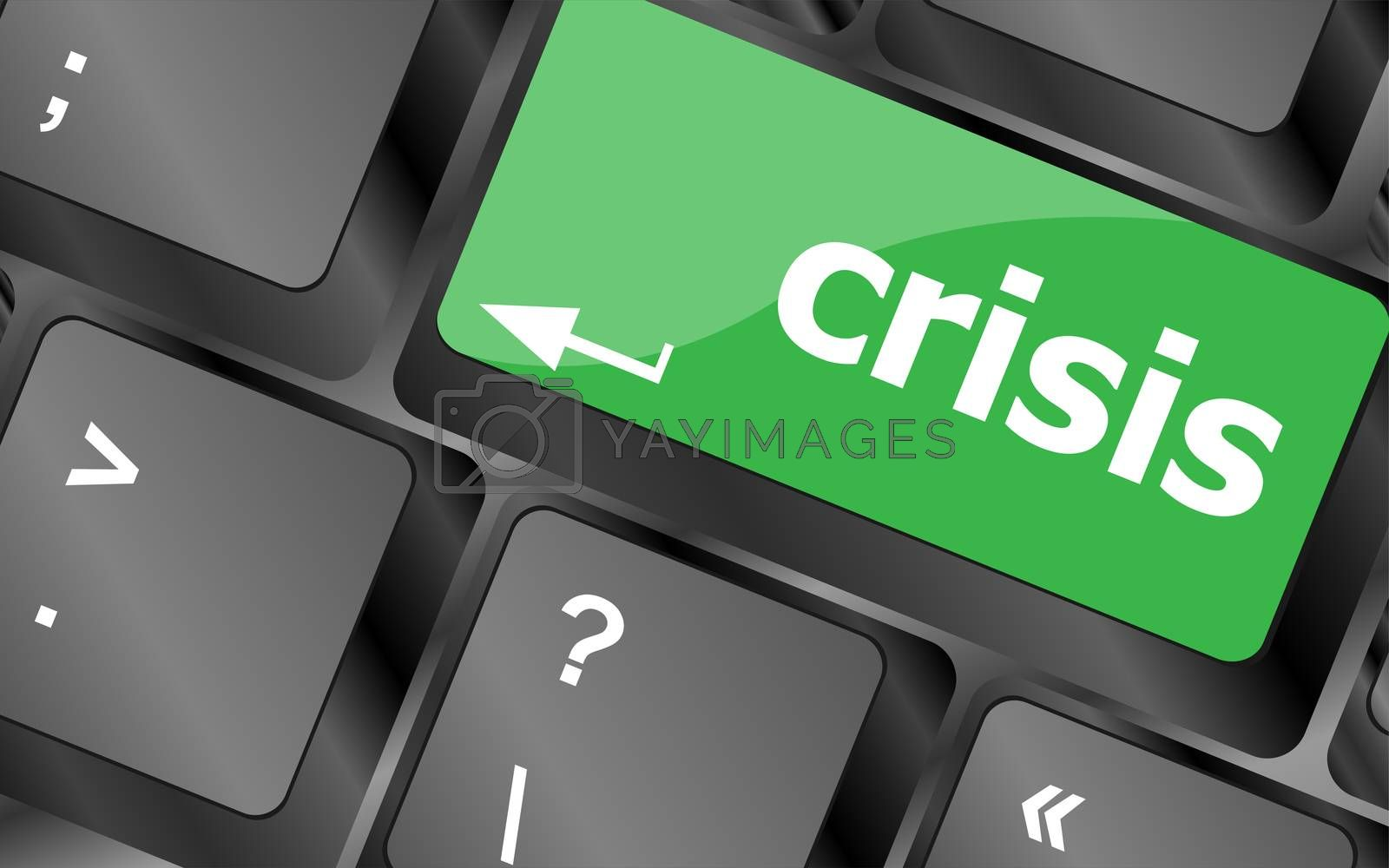 crisis risk management key showing business insurance concept by fotoscool