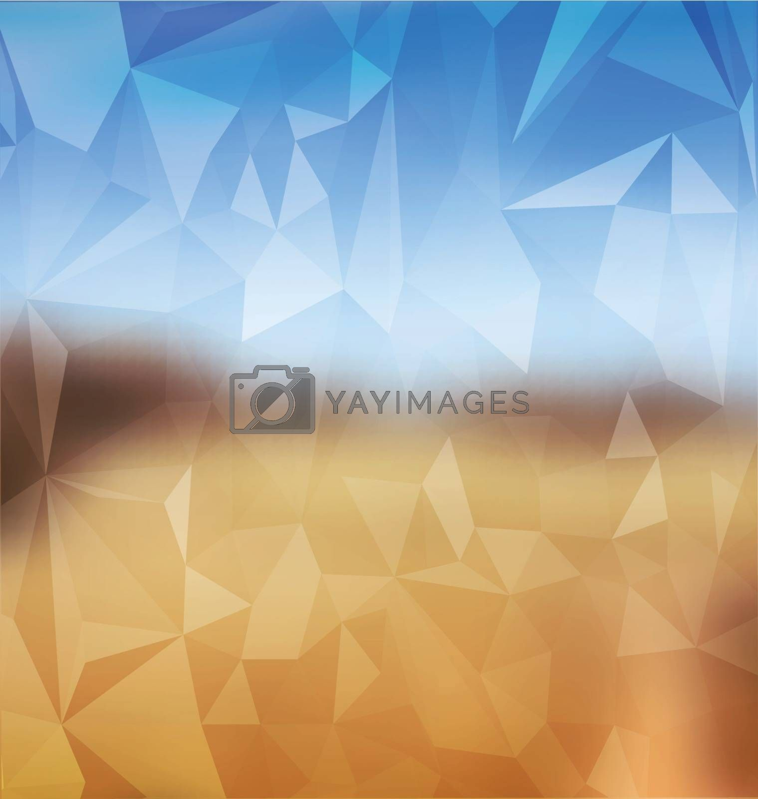 Blurred yellow and blue with polygonal mosaic by Zebra-Finch