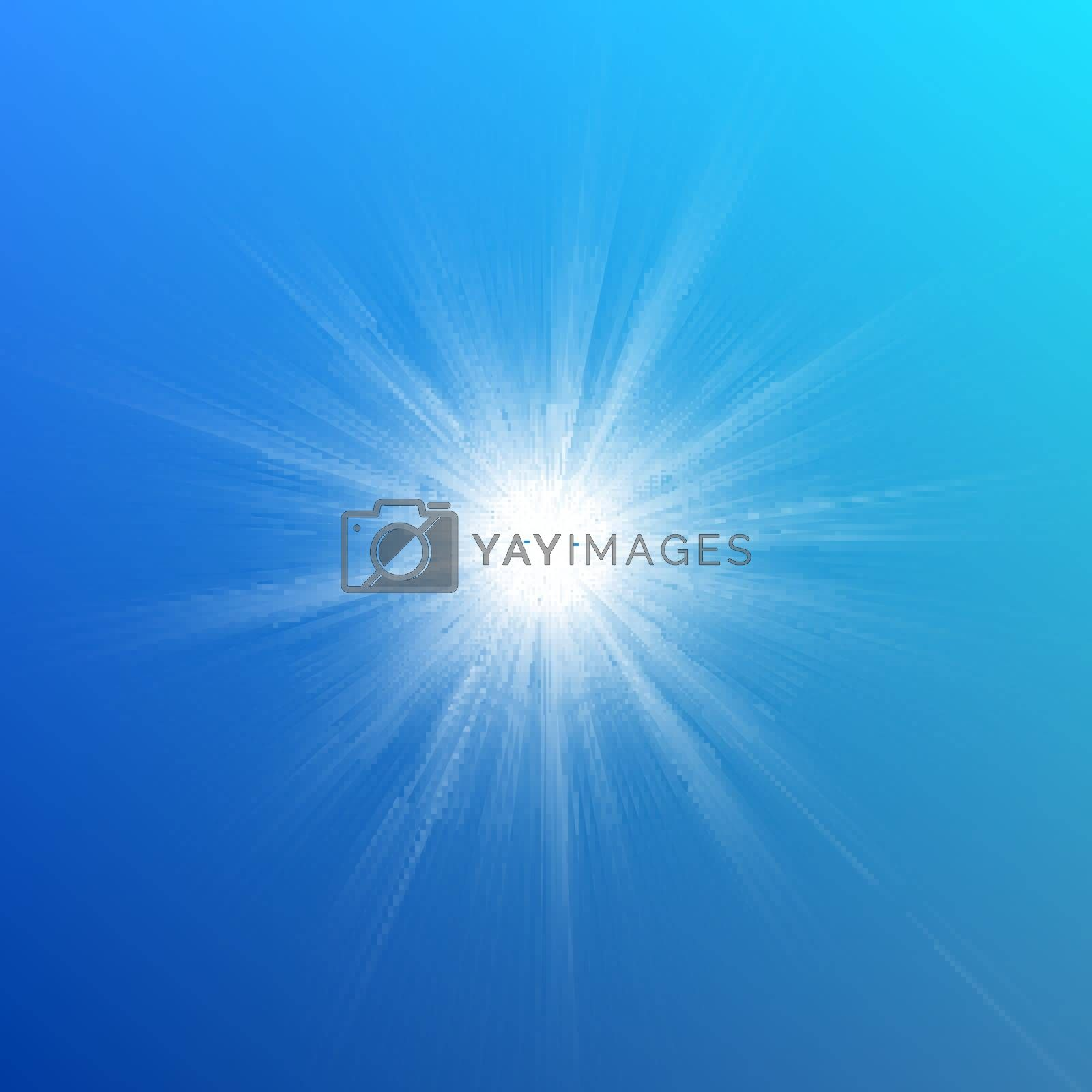 Blue color design with a burst. EPS 10 vector file included