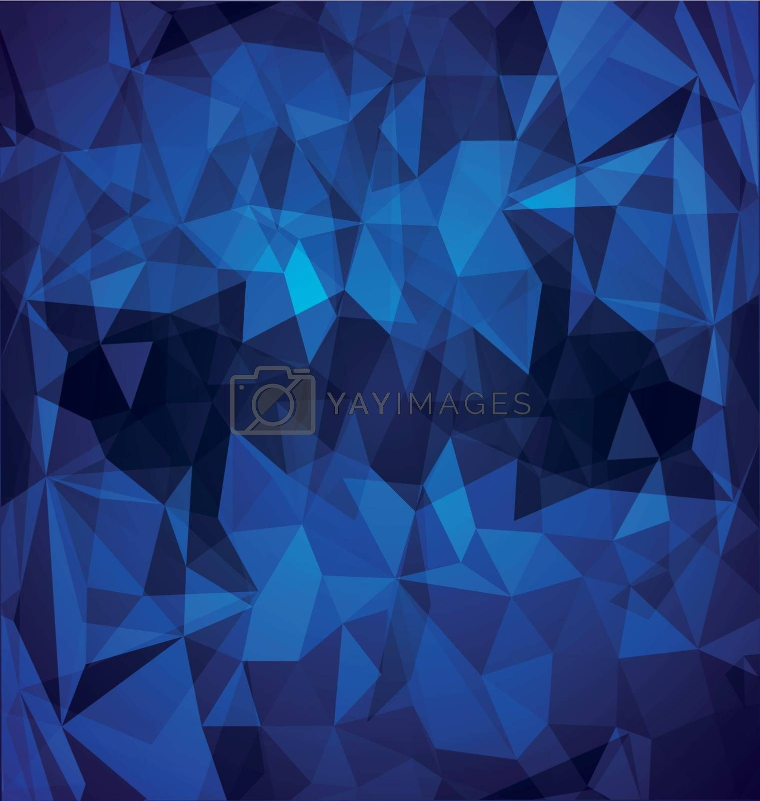 Abstract blue polygonal with globe by Zebra-Finch
