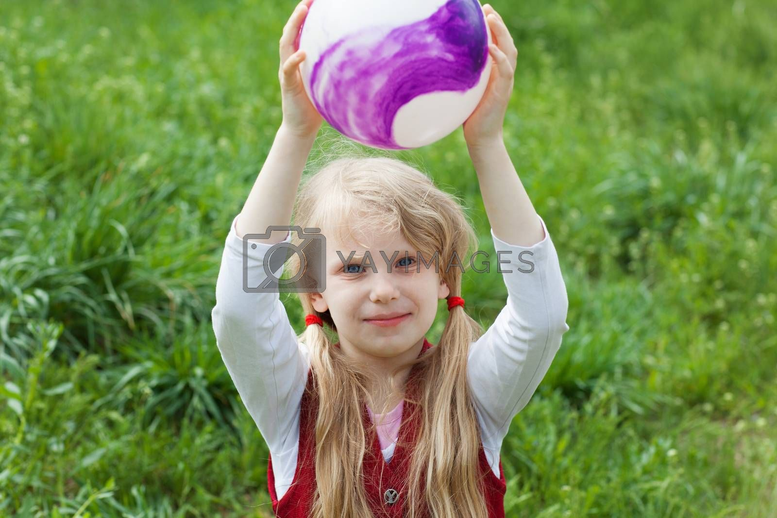 portrait of a girl with a ball