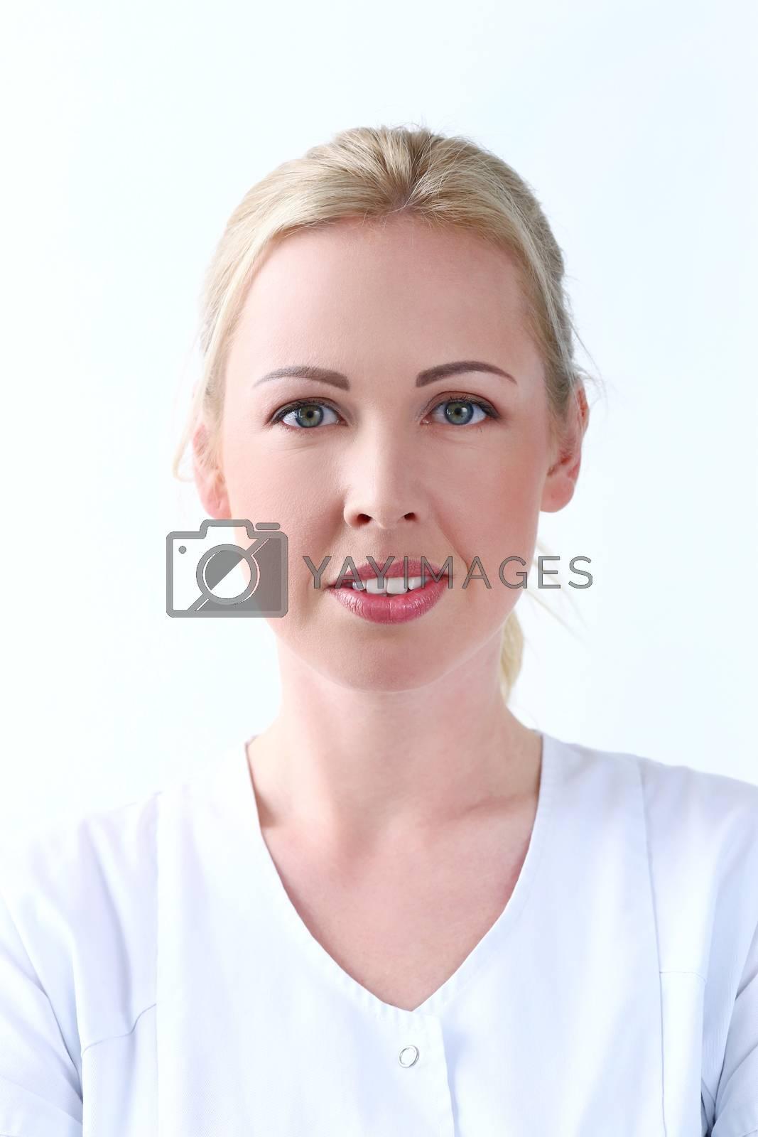 Beautiful cosmetologist with cute smile by rufatjumali