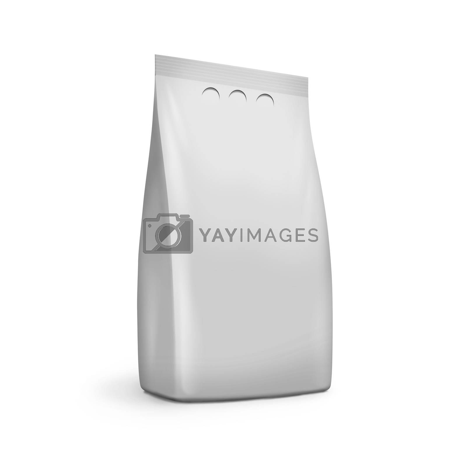 a clean plastic bag on white background