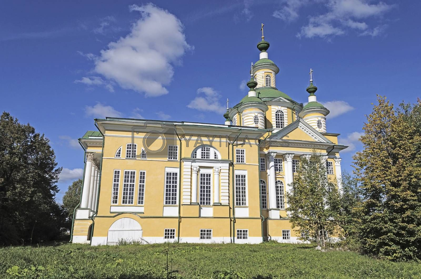 Cathedral of the Ascension (1796-1801) in former Spaso-Sumorin Monastery, Totma town, northern Russia