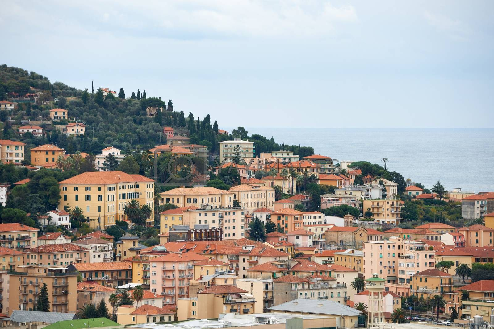 Royalty free image of Imperia town in Italy by ecobo