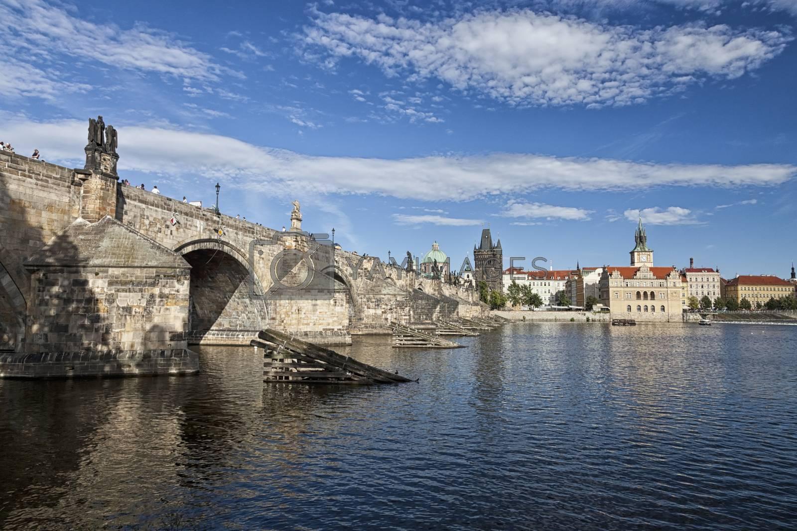 Royalty free image of Prague Charles bridge by hanusst