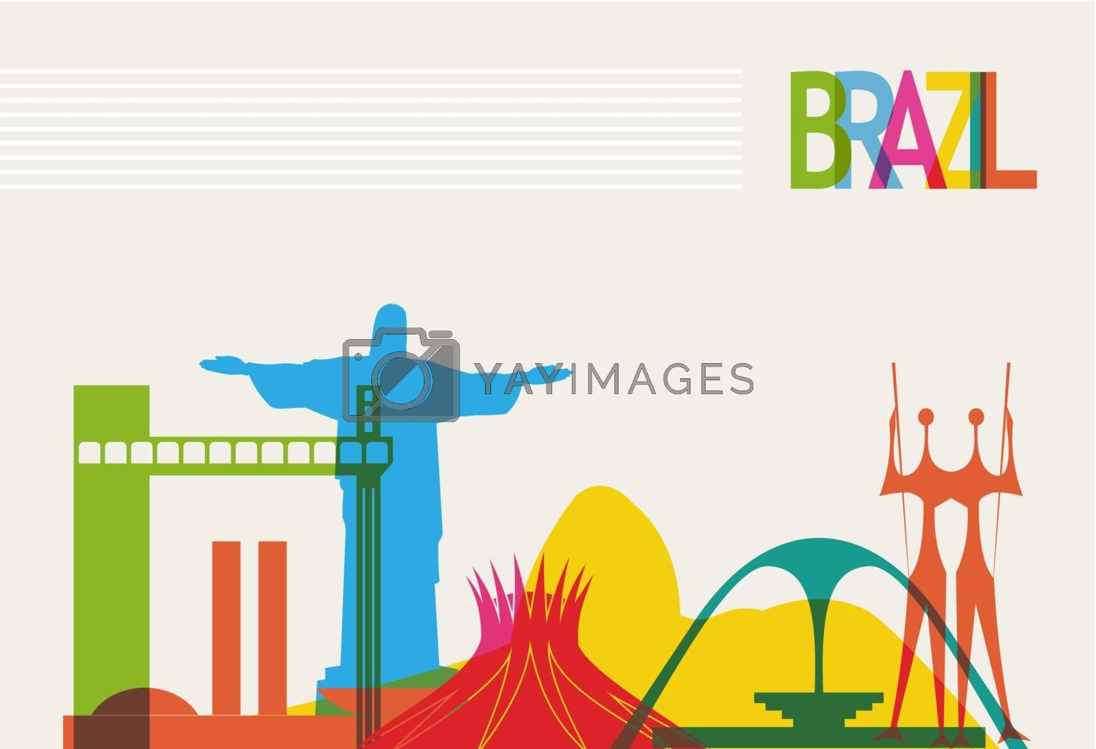 Royalty free image of Brazil tourism skyline by cienpies