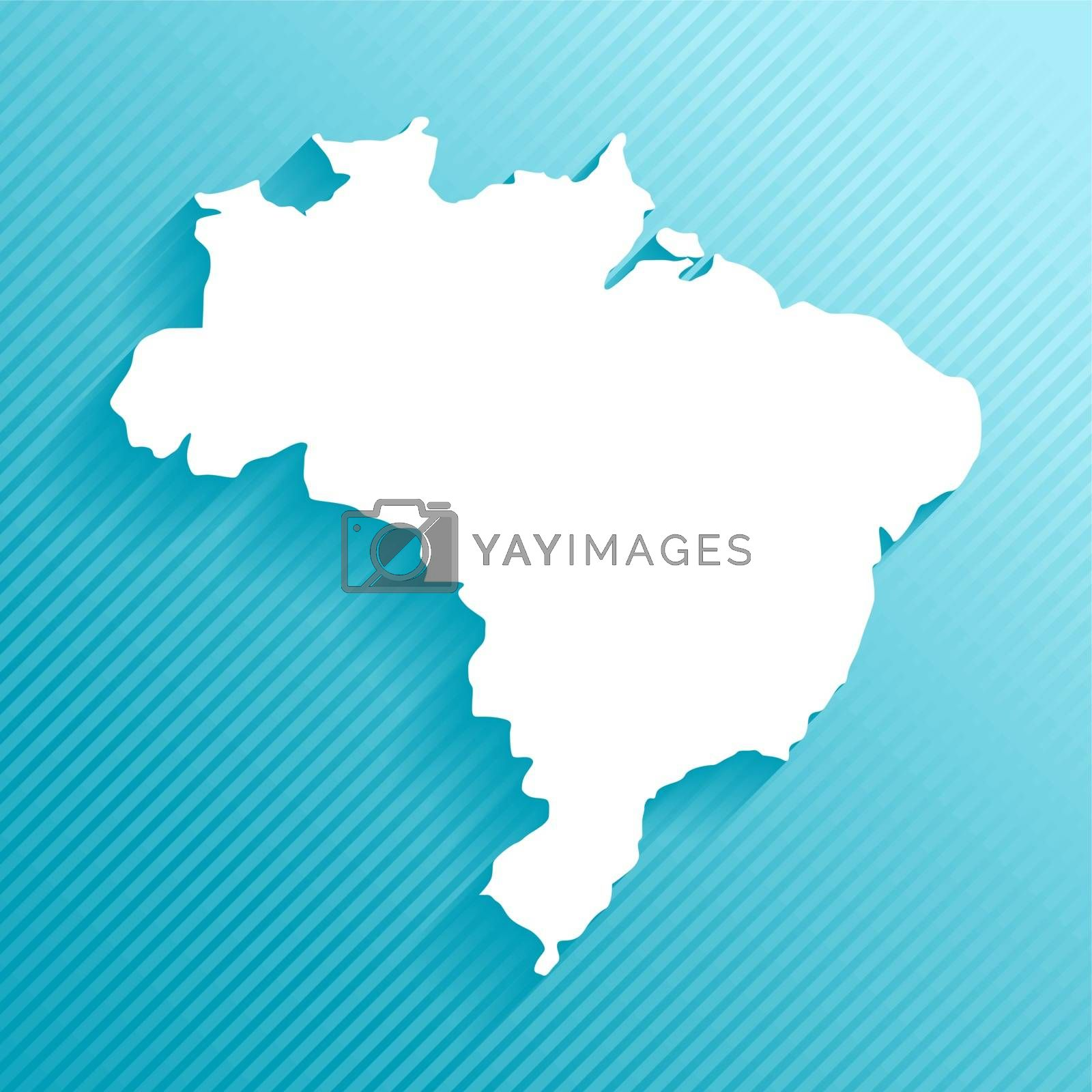 Royalty free image of Paper map of Brazil by cienpies
