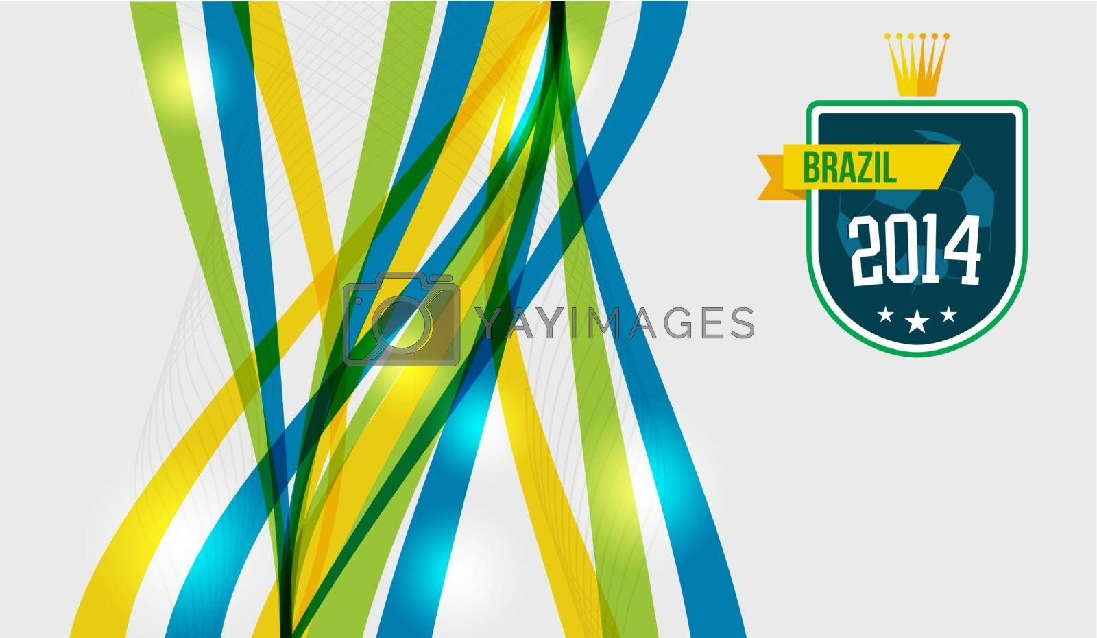 Royalty free image of Abstract geometric Brazil design by cienpies