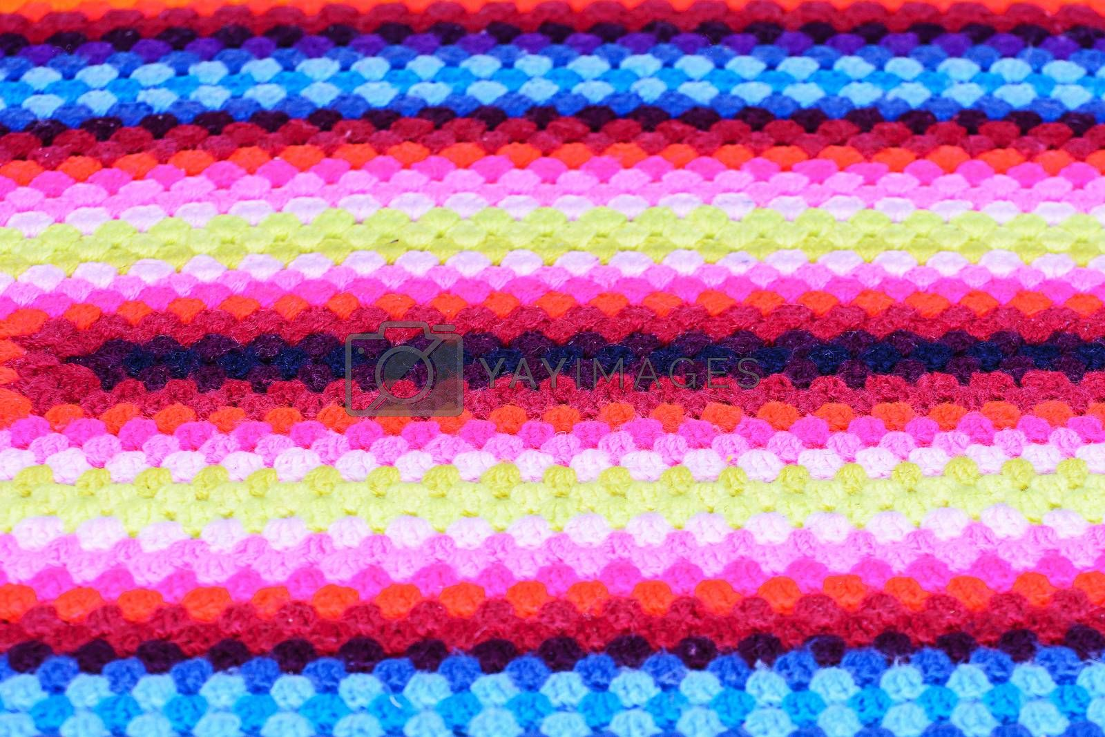 Royalty free image of Colorful hand woven cotton by NuwatPhoto