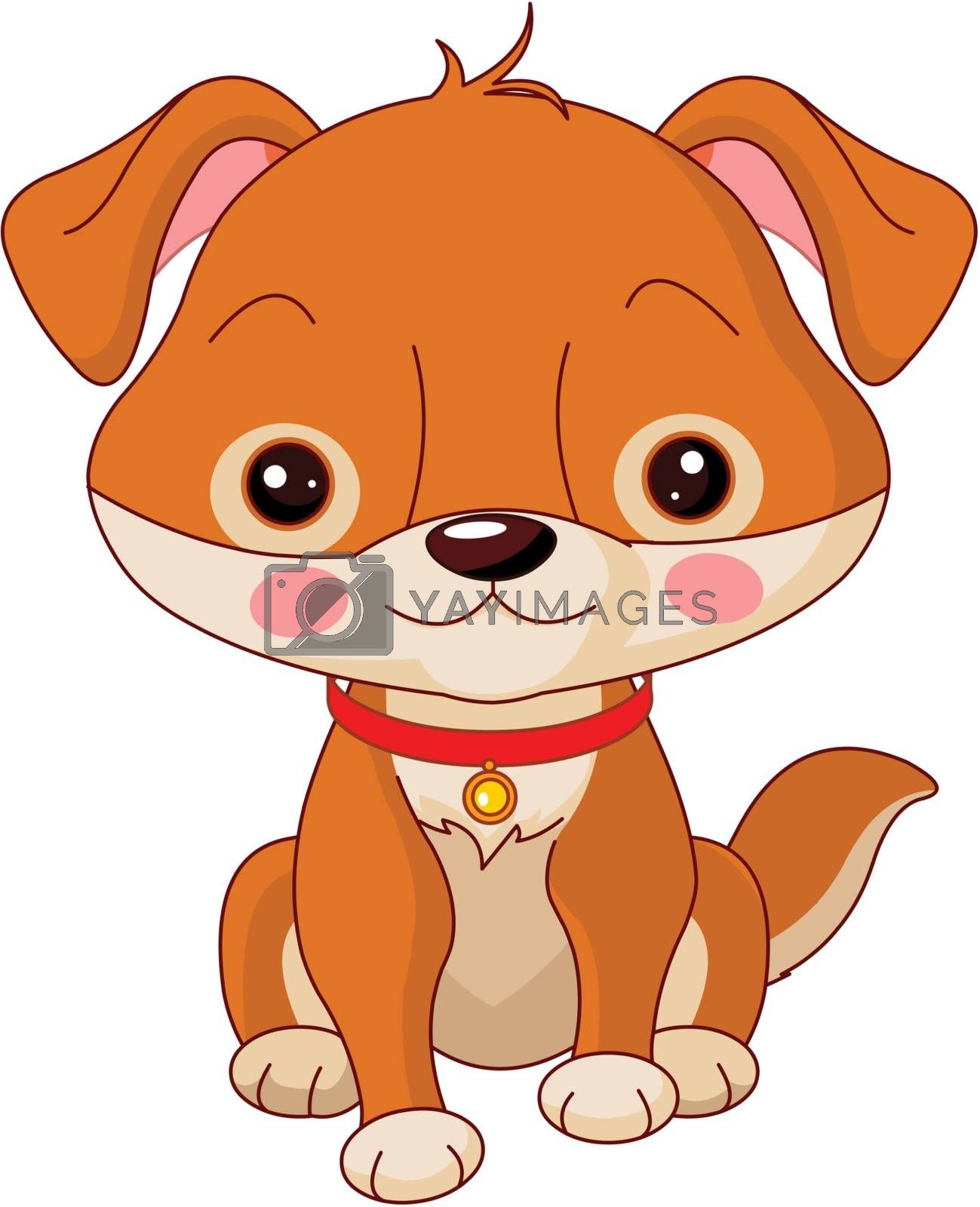 Farm animals. Illustration of cute Dog