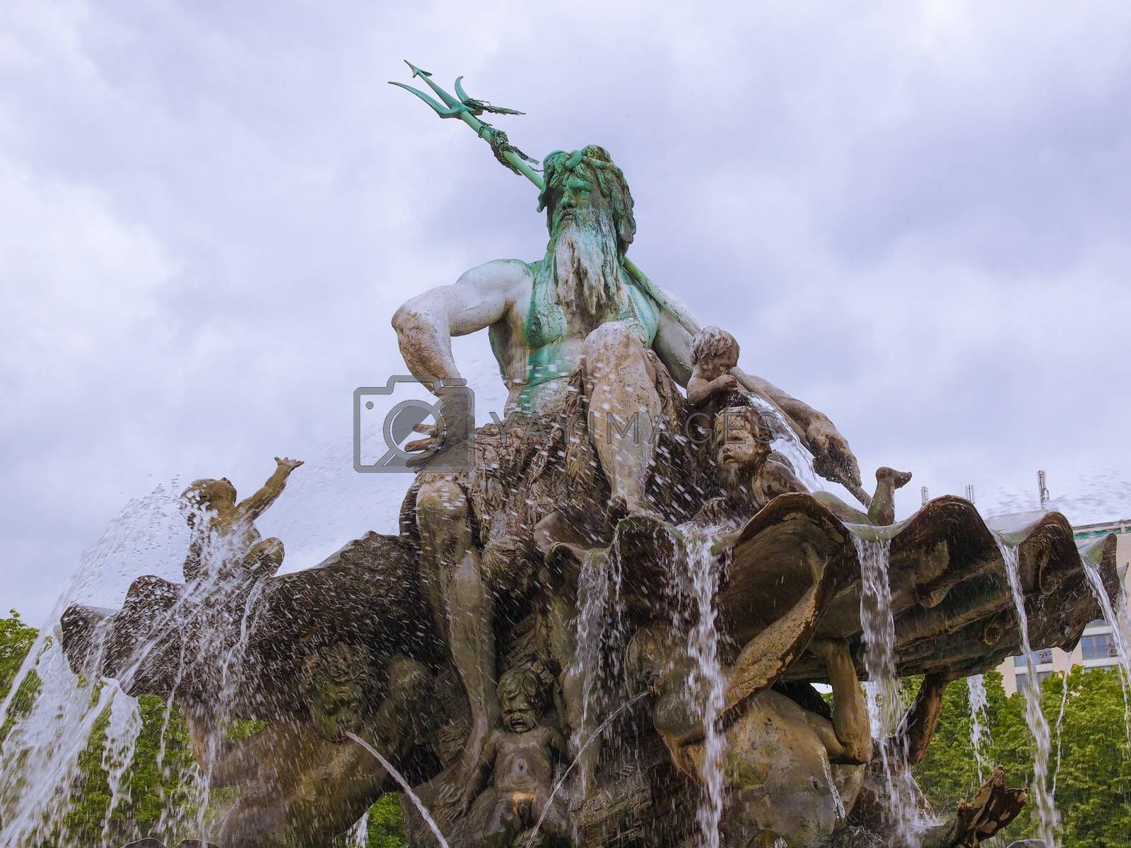 Royalty free image of Neptunbrunnen fountain in Berlin by claudiodivizia