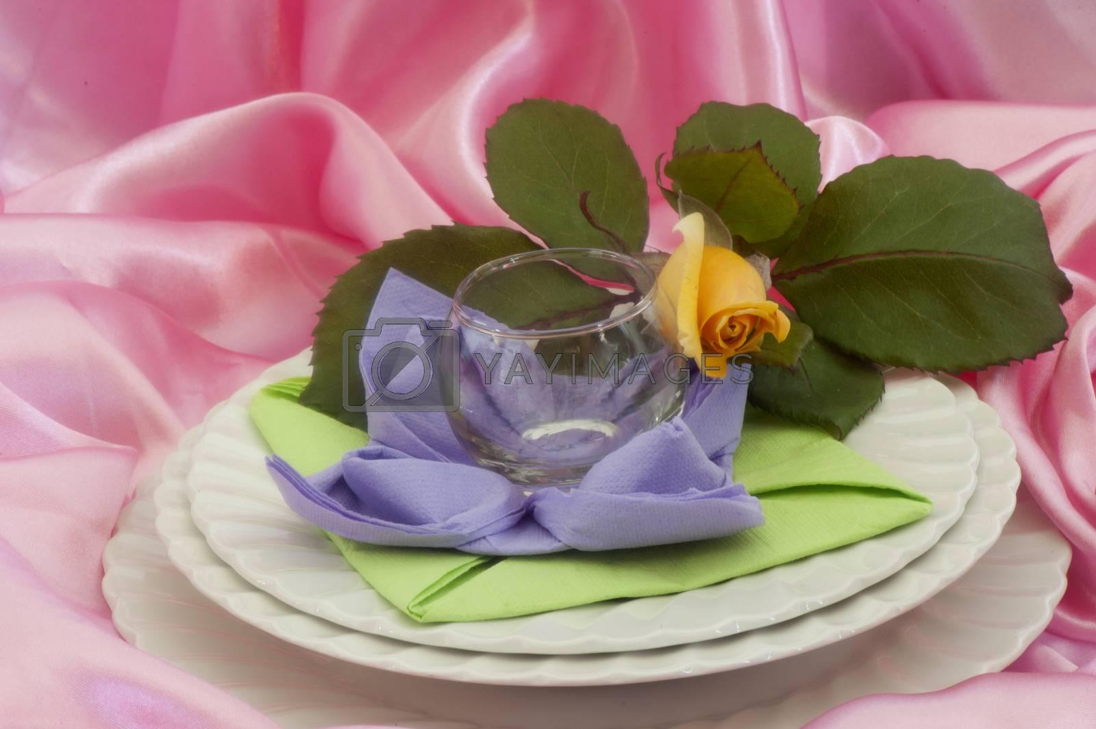 Royalty free image of Elegant origami napkins  by carla720