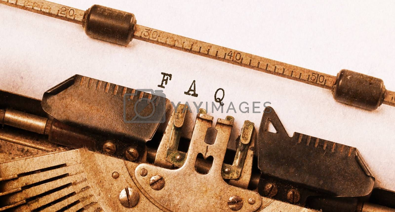 Royalty free image of Vintage inscription made by old typewriter by michaklootwijk