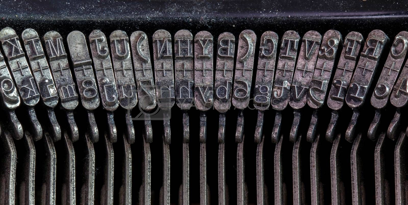 Royalty free image of Detail of an old typewriter by michaklootwijk