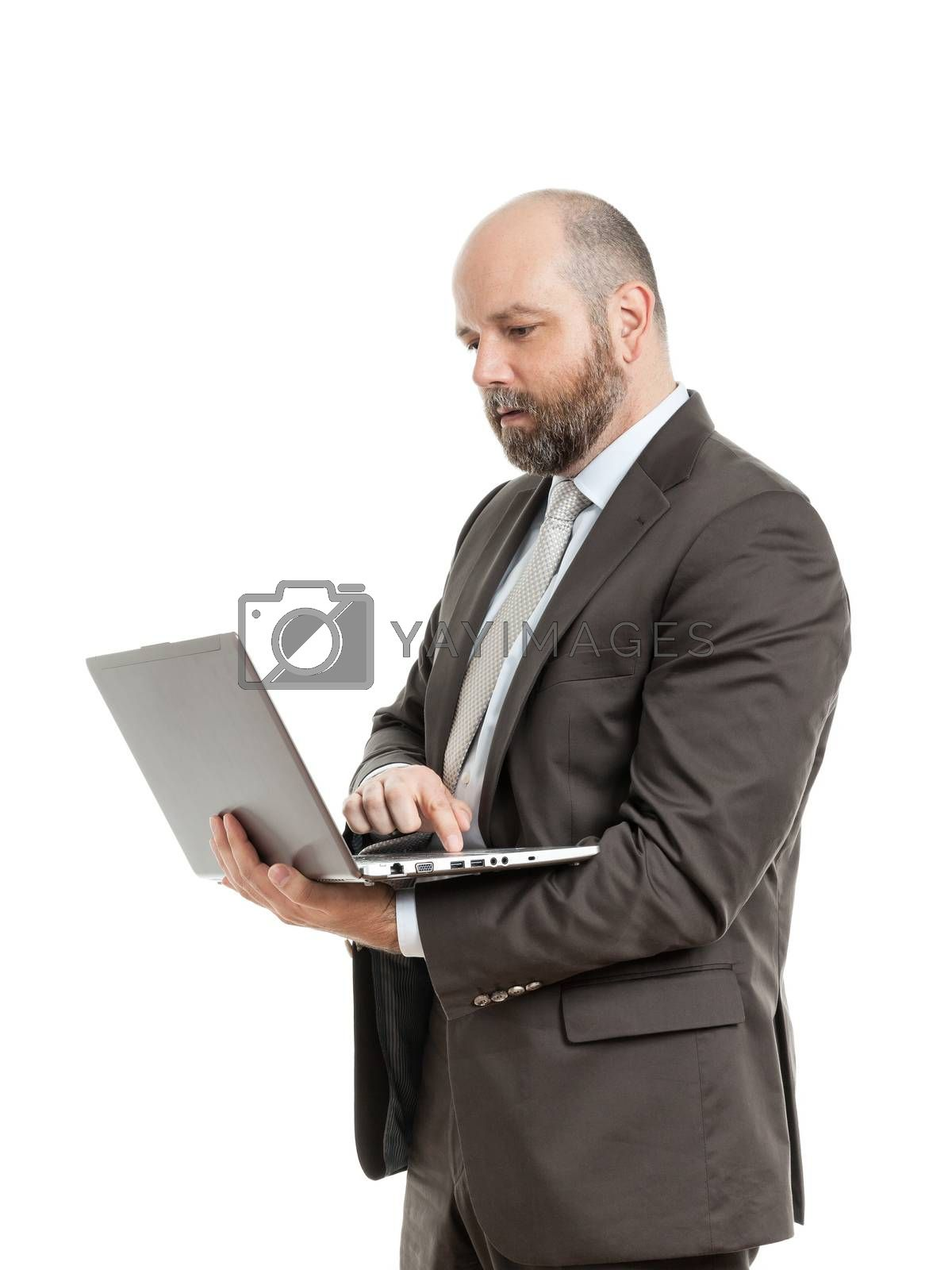 Royalty free image of business man notebook by magann