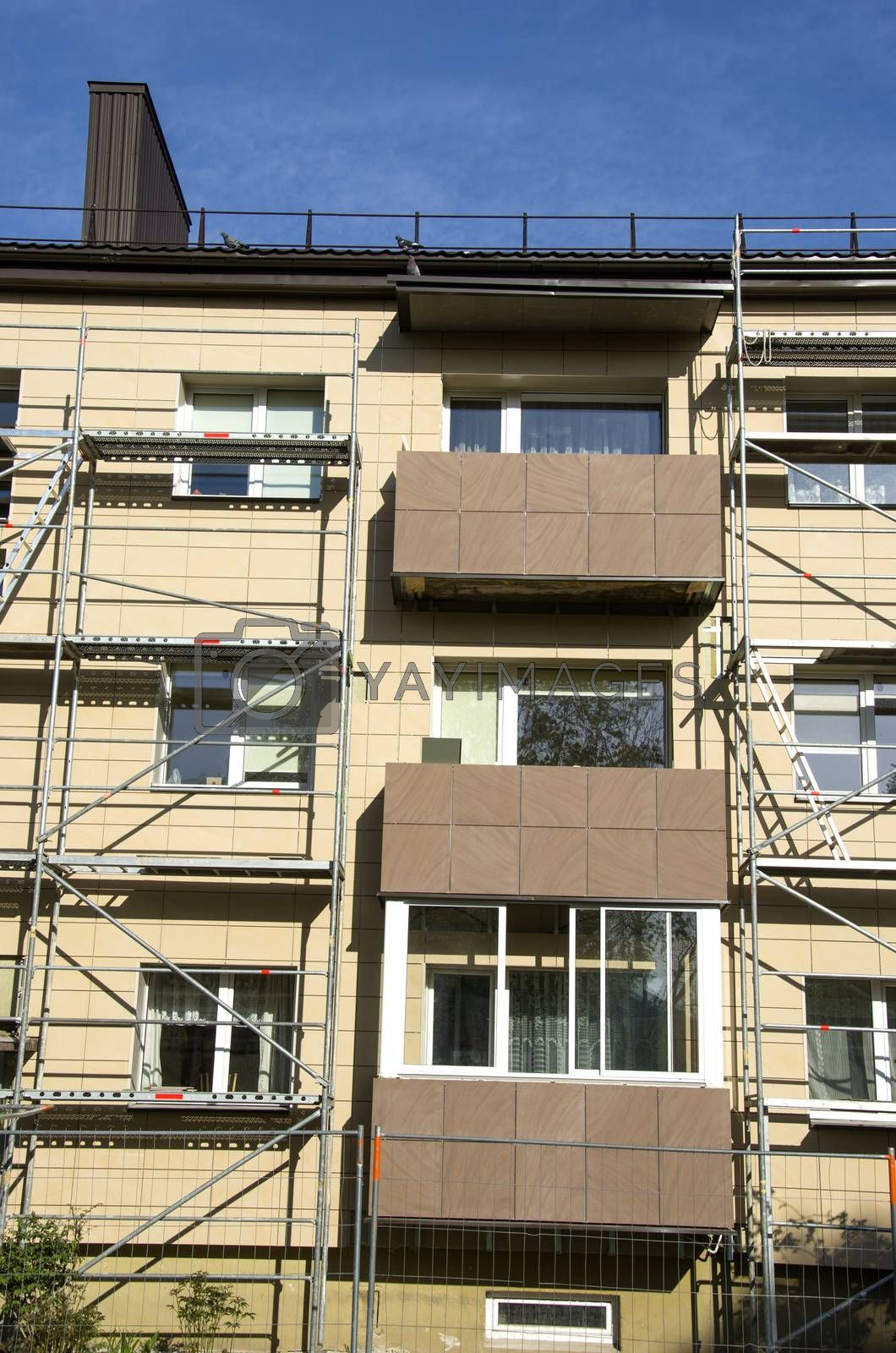 Royalty free image of urban house balcony renovation work place by alis_photo