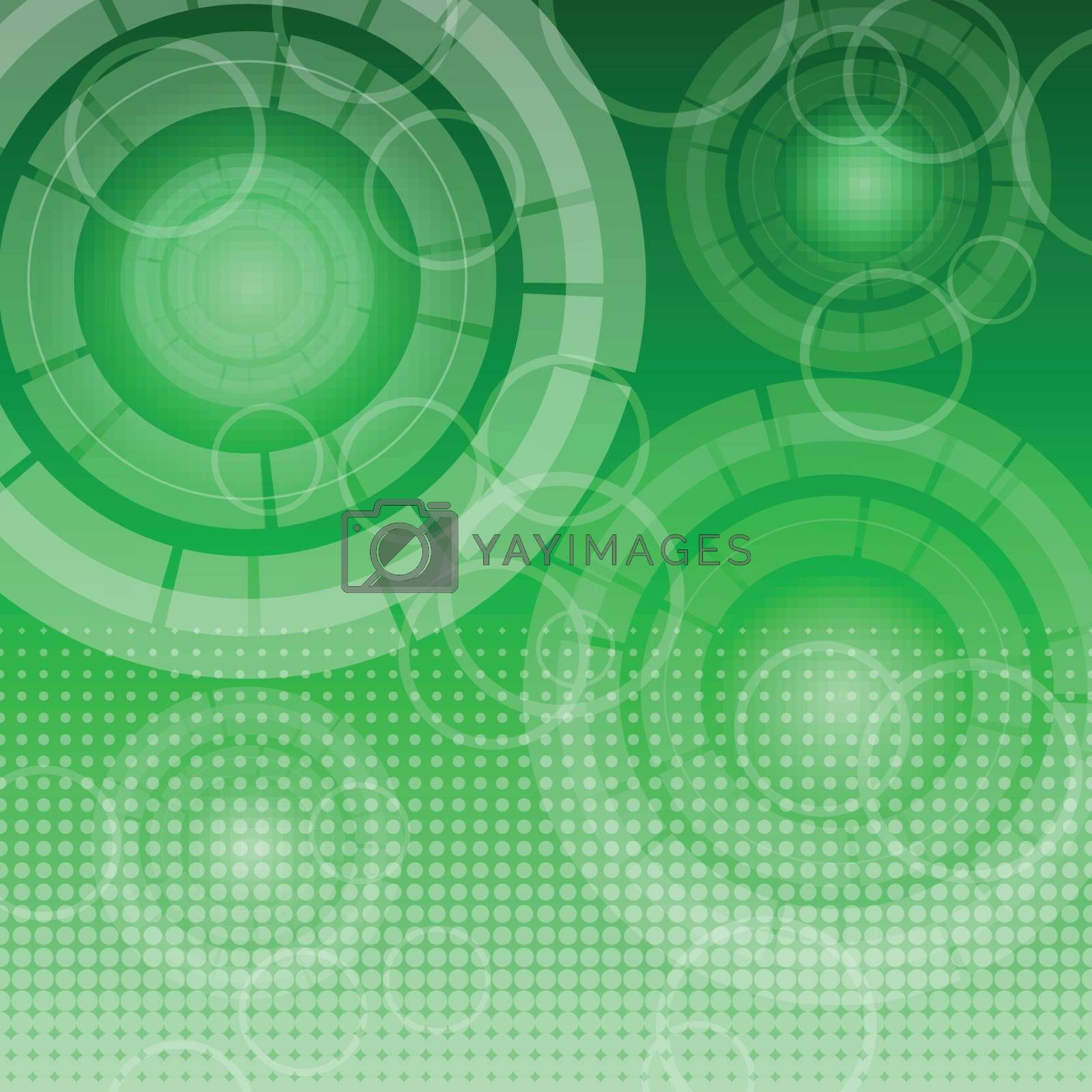 Royalty free image of Abstract technology on green background by punsayaporn