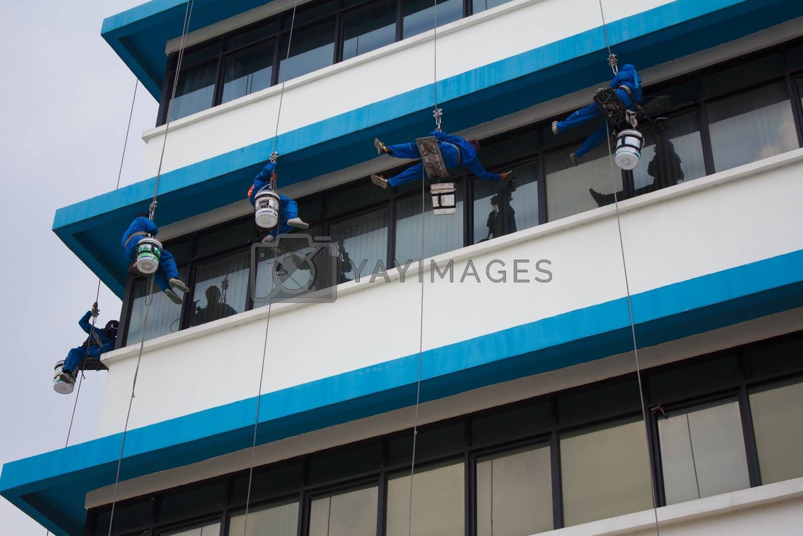 Royalty free image of Window washer by letoakin