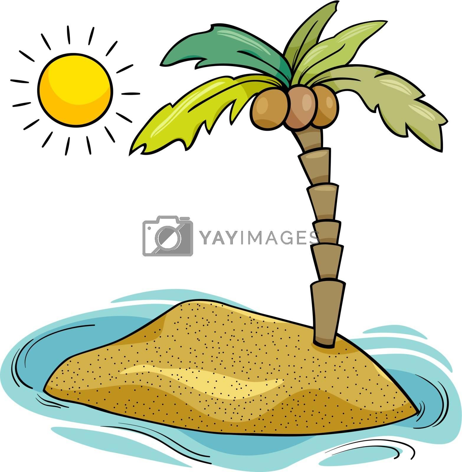 Royalty free image of desert island cartoon illustration by izakowski