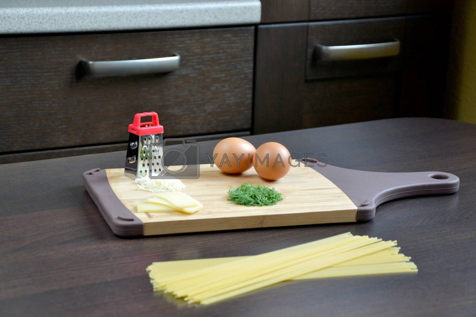 Royalty free image of Ingredients for pasta by ruv86