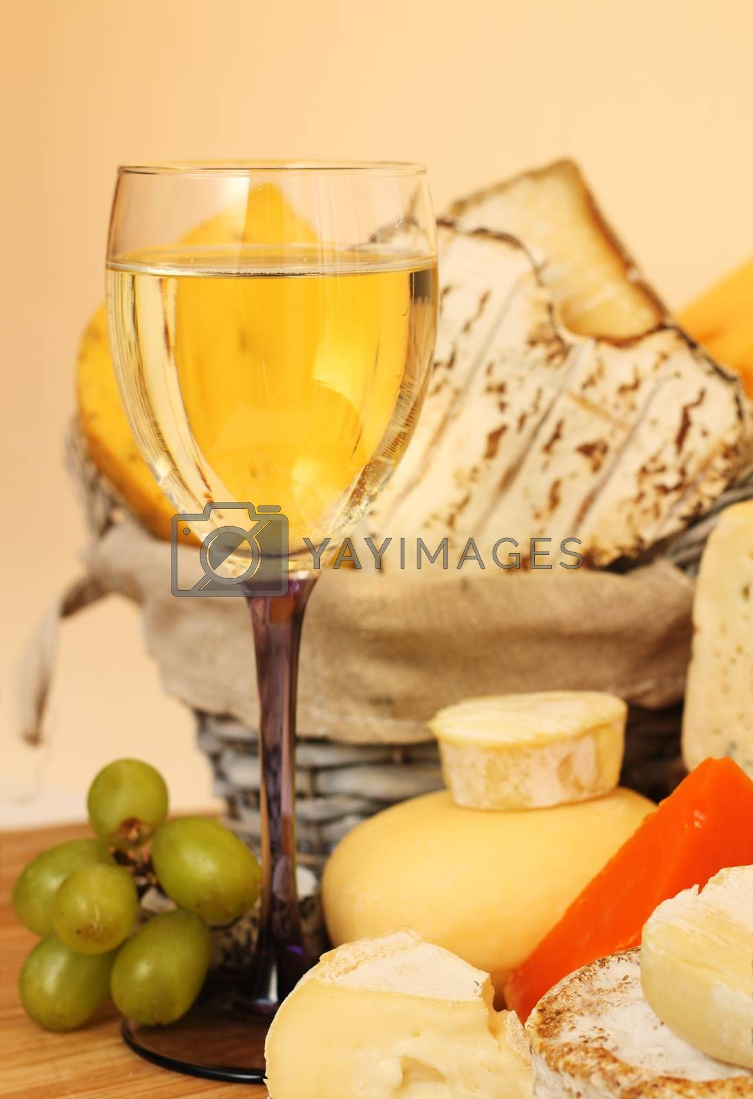 Royalty free image of Cheese and wine by destillat
