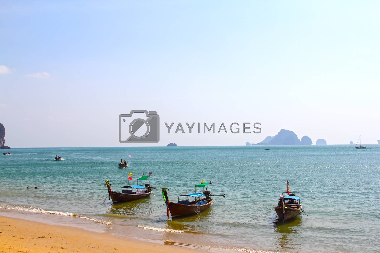 Royalty free image of Beach and boats by destillat