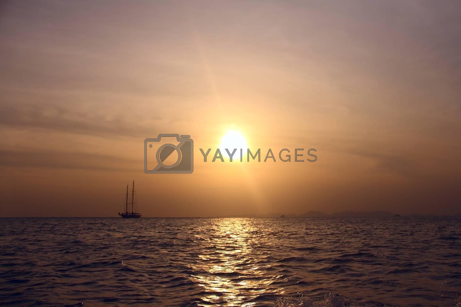 Royalty free image of Sailing yahts by destillat