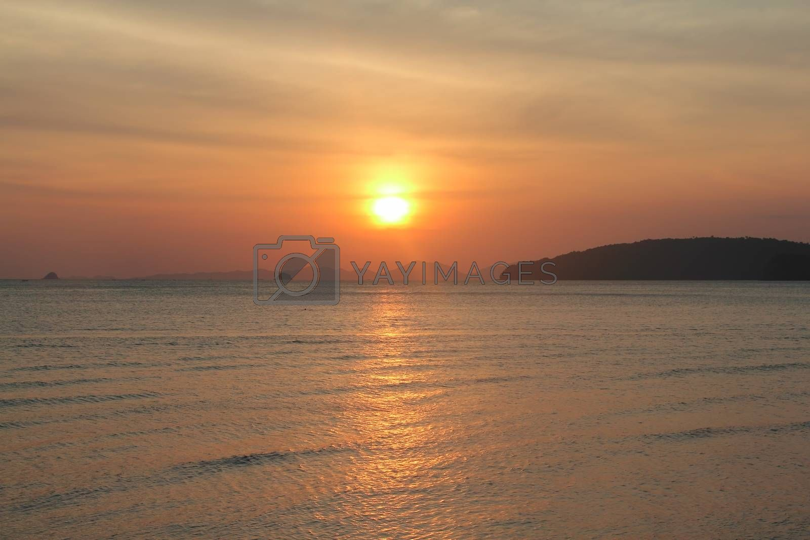 Royalty free image of Sunset above the sea by destillat