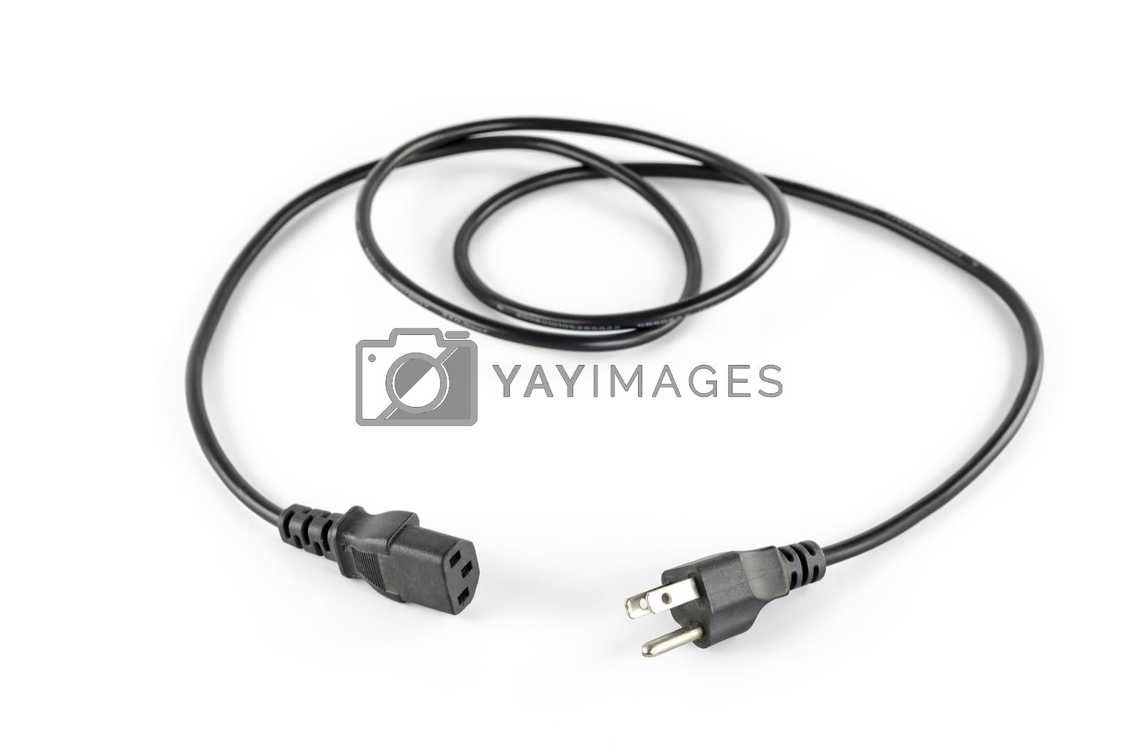 Royalty free image of computer power plug cable by ammza12