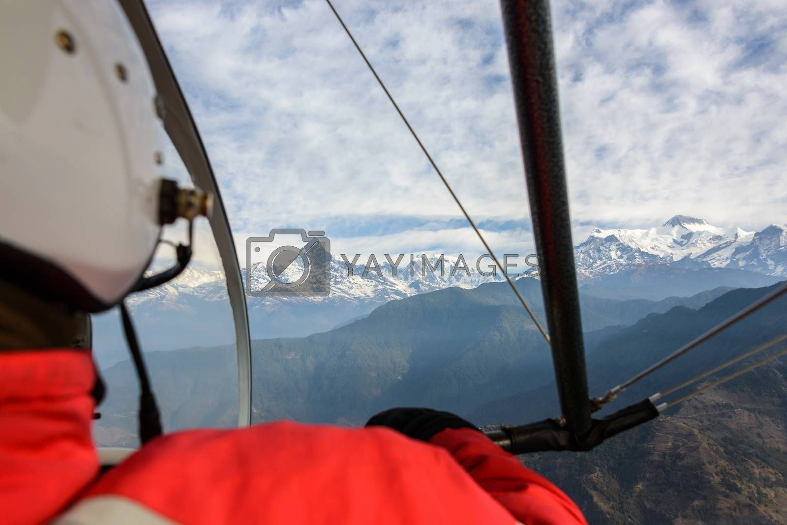 Royalty free image of Flying an ultralight in Nepal by dutourdumonde