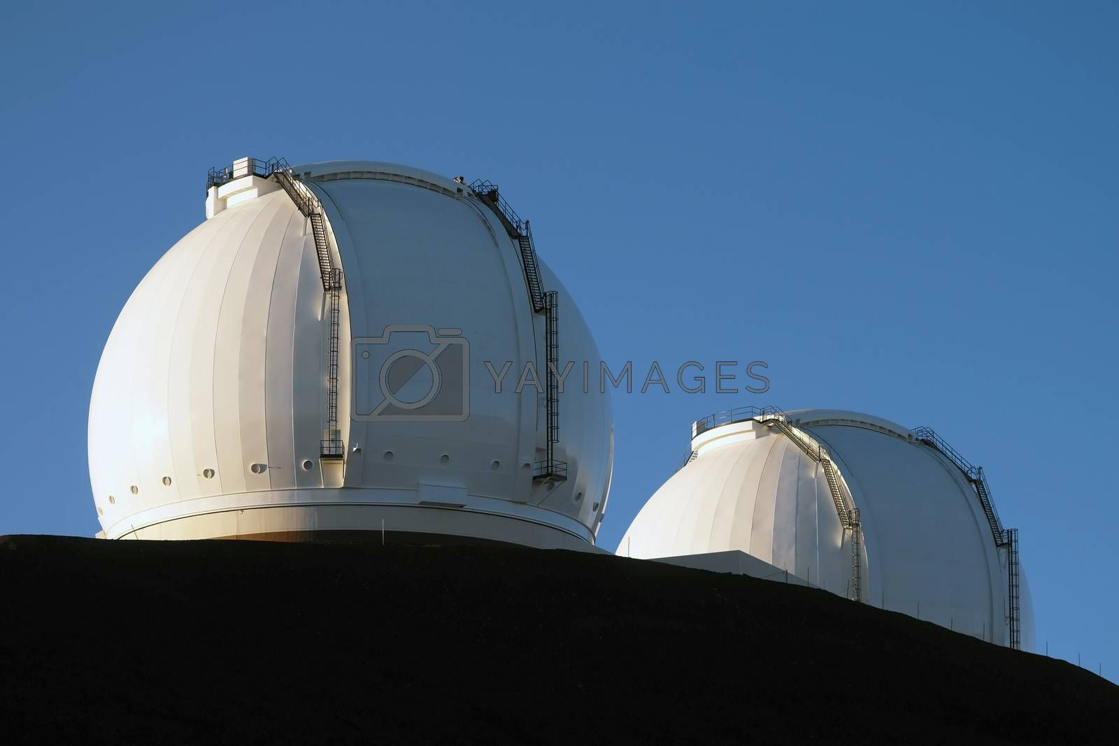 Royalty free image of W.M. Keck Observatory - Hawaii - USA by SteveAllenPhoto