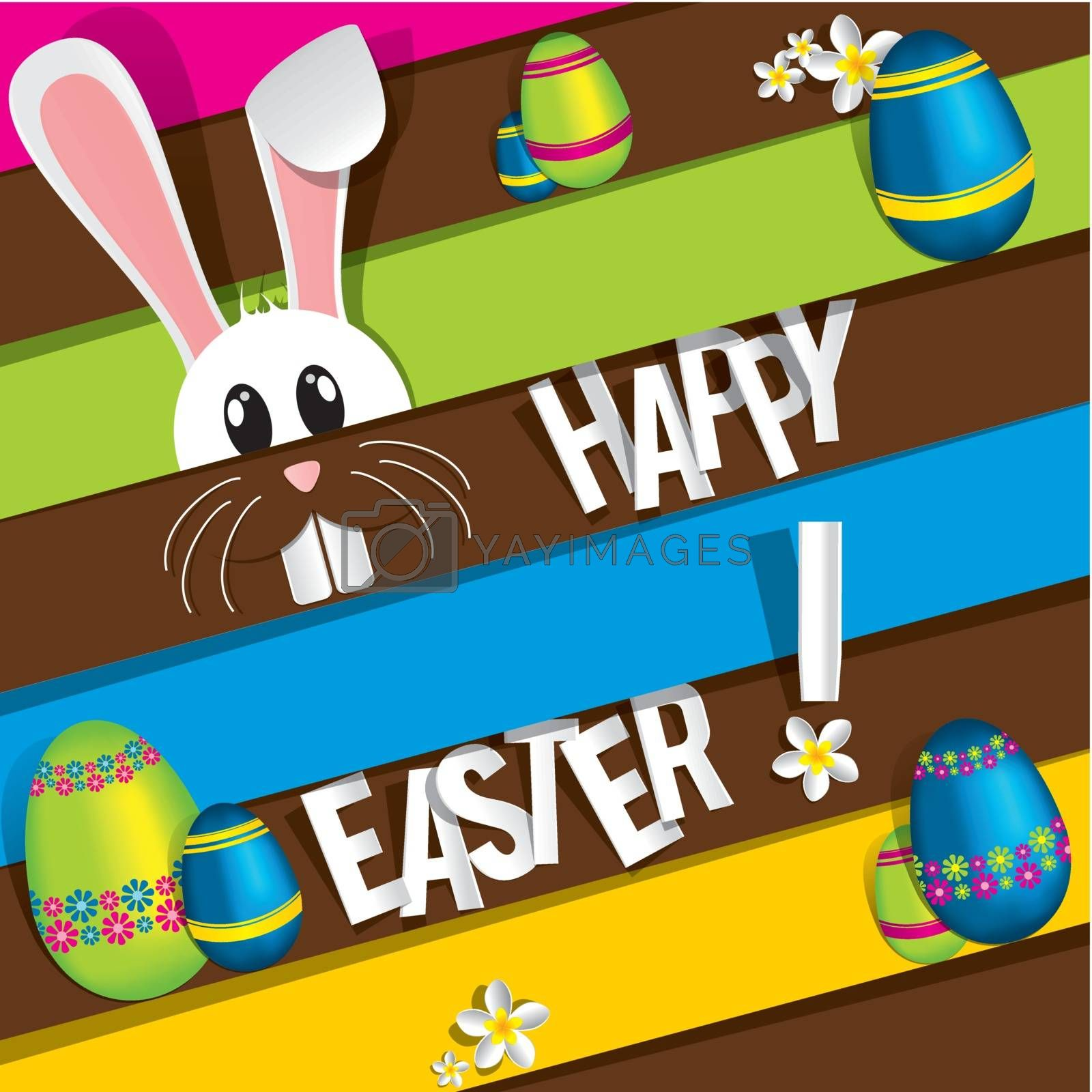 Royalty free image of Happy Easter Greeting Card by nicousnake