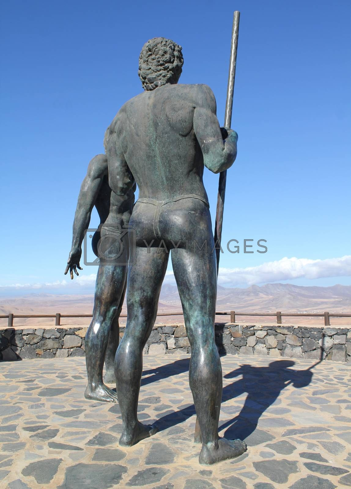 Royalty free image of Monument near village Betancuria, Canary Island Fuerteventura, S by JackyBrown