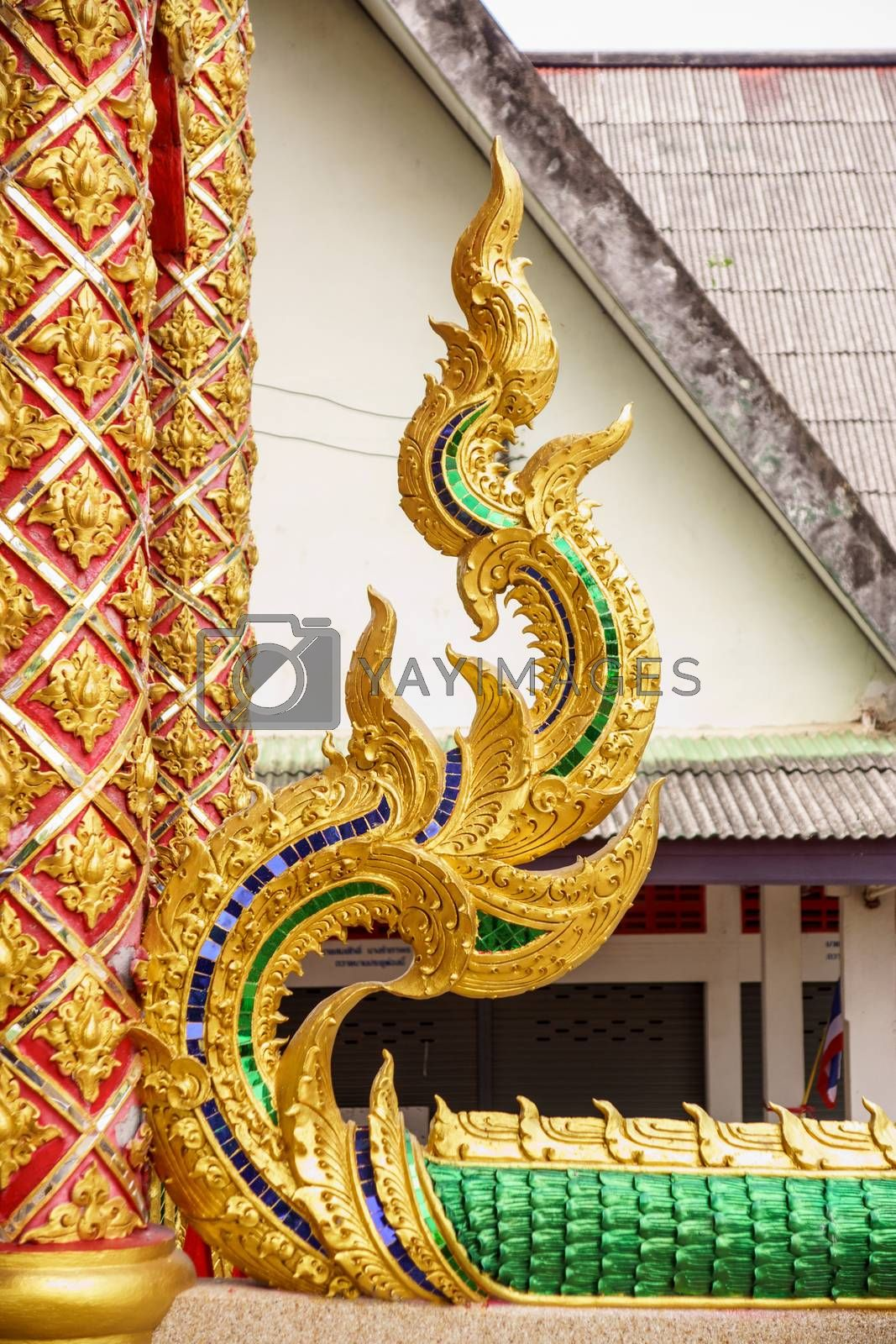 Royalty free image of flame thai pattern by nattapatt