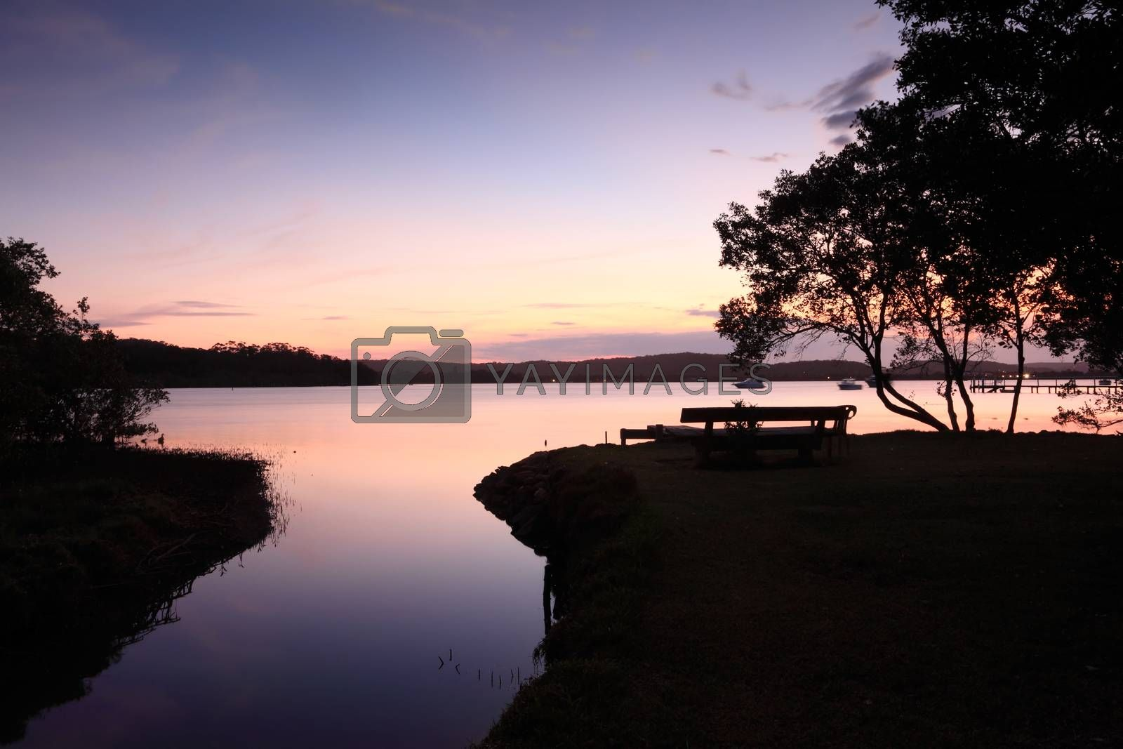 Royalty free image of Sunset Silhouette Kincumber Australia by lovleah