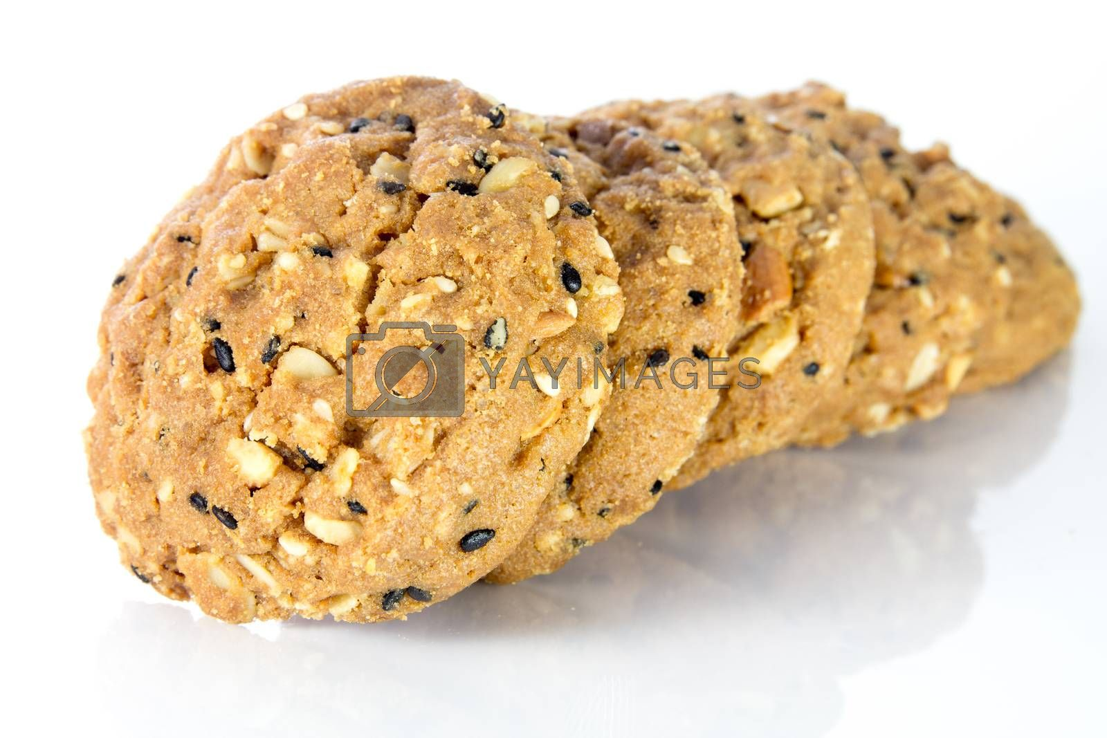 Royalty free image of whole grain cookies by theerapoll