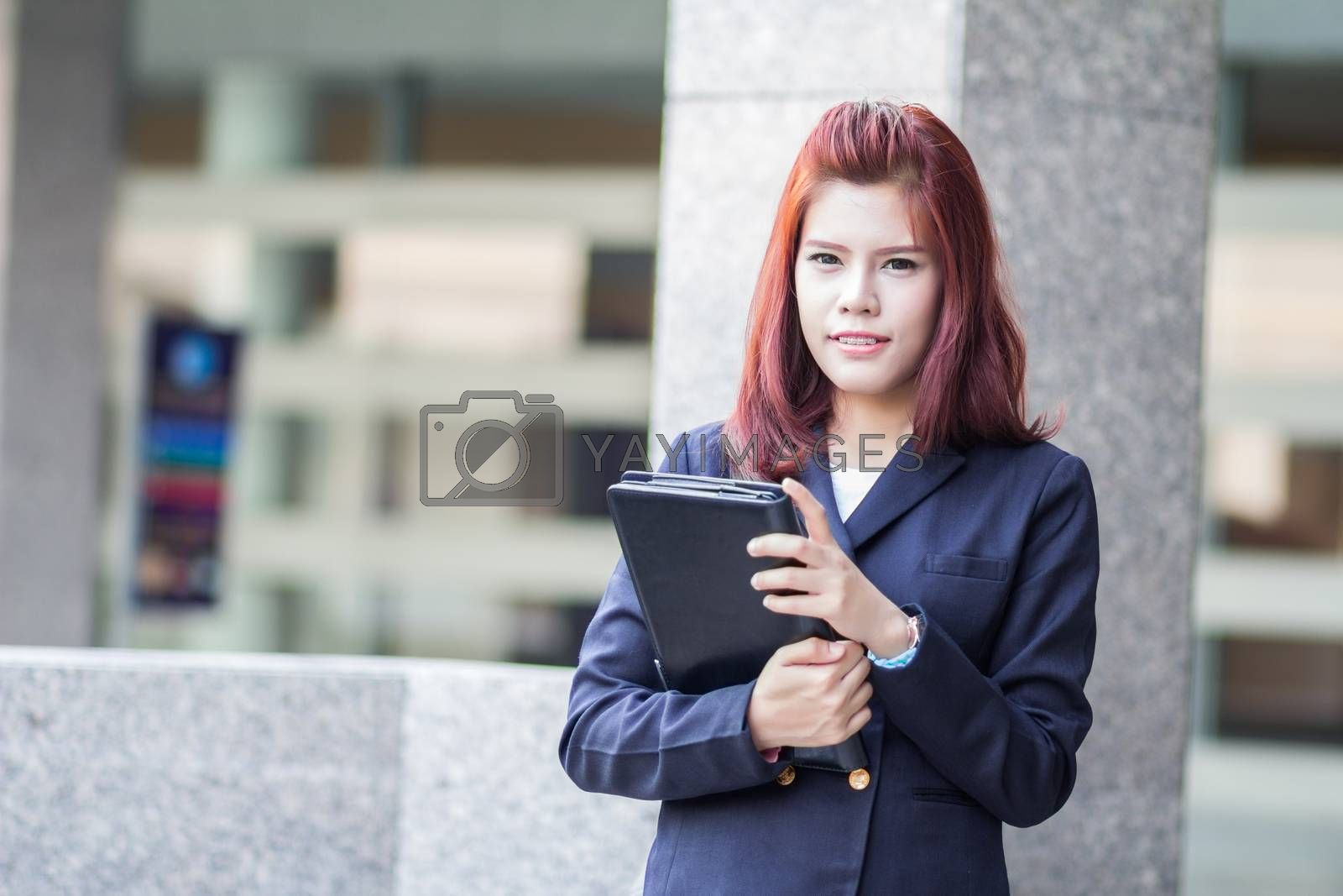Royalty free image of businesswoman by theerapoll