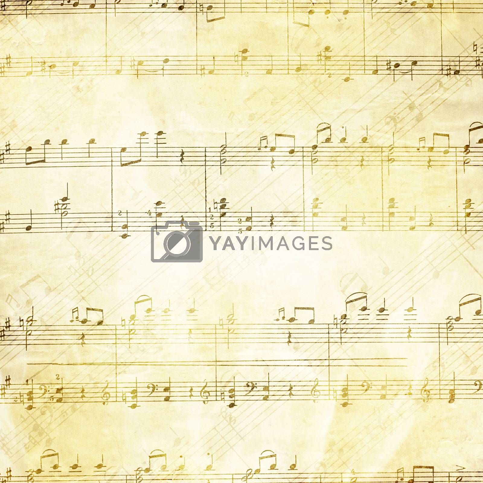 Royalty free image of Music background in grunge style by SvetaVo