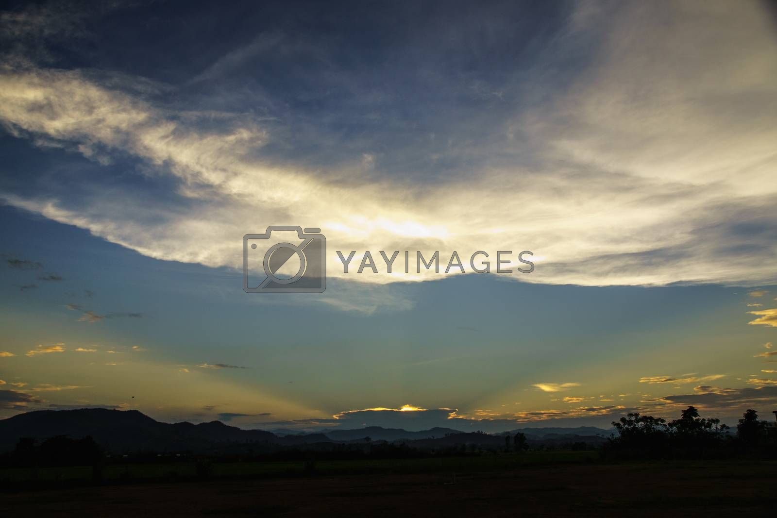 Royalty free image of cloud and sky by nattapatt