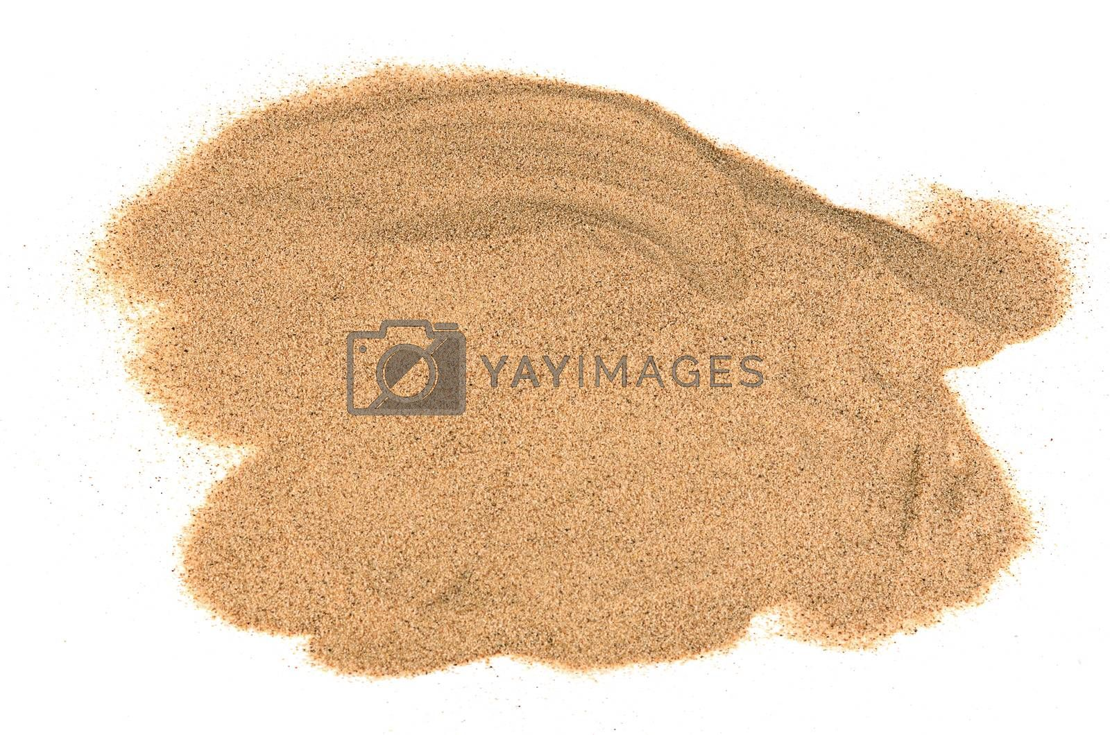 Royalty free image of The sand isolated on white background by SvetaVo