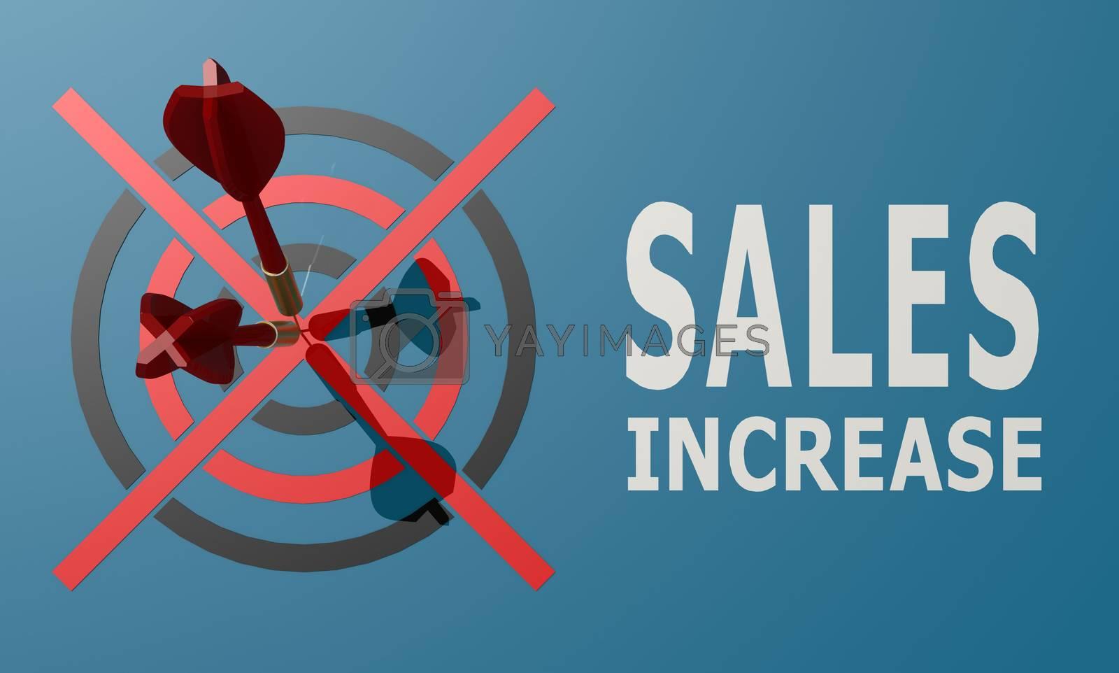 Royalty free image of Dart board blue sales increase by tang90246