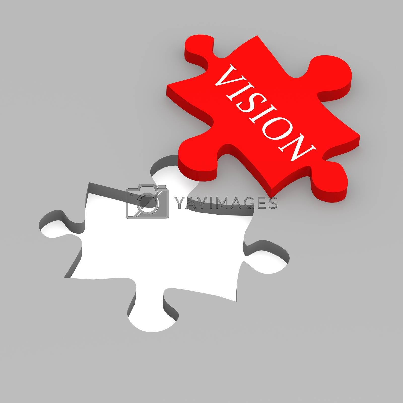 Royalty free image of Vision puzzle by tang90246