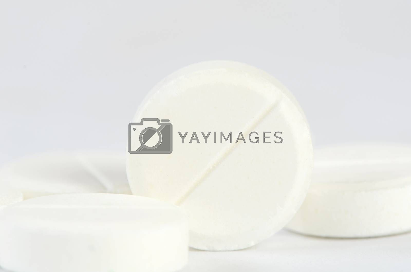 Royalty free image of Tablets close up. A medical background by SvetaVo
