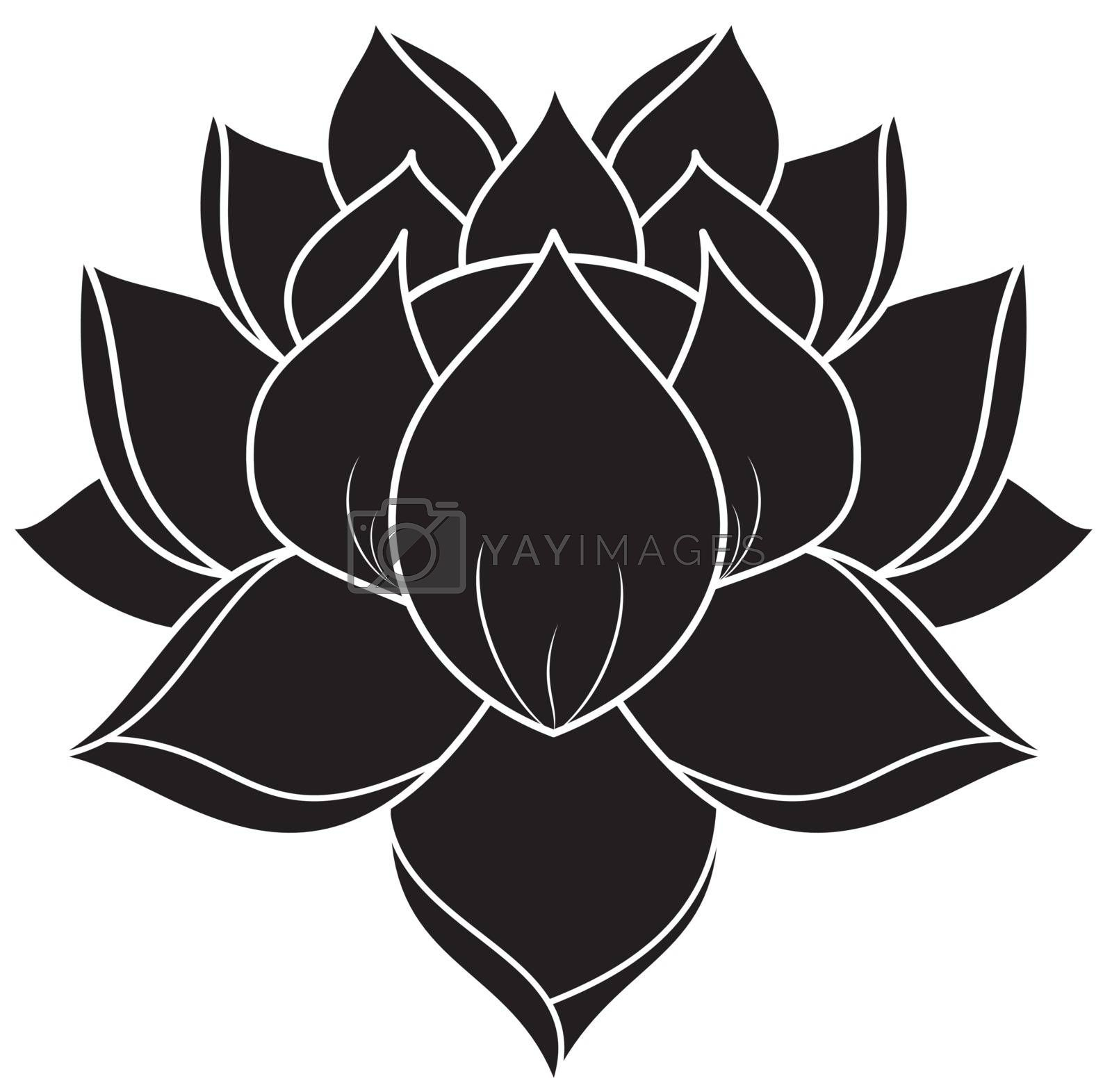 Royalty free image of Lotus Silhouette by silverrose1