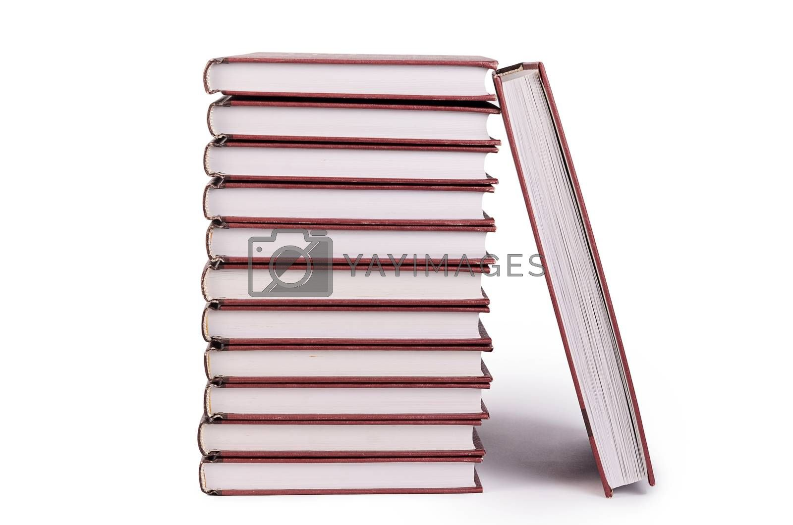 Royalty free image of Pile of books isolated on white by SvetaVo