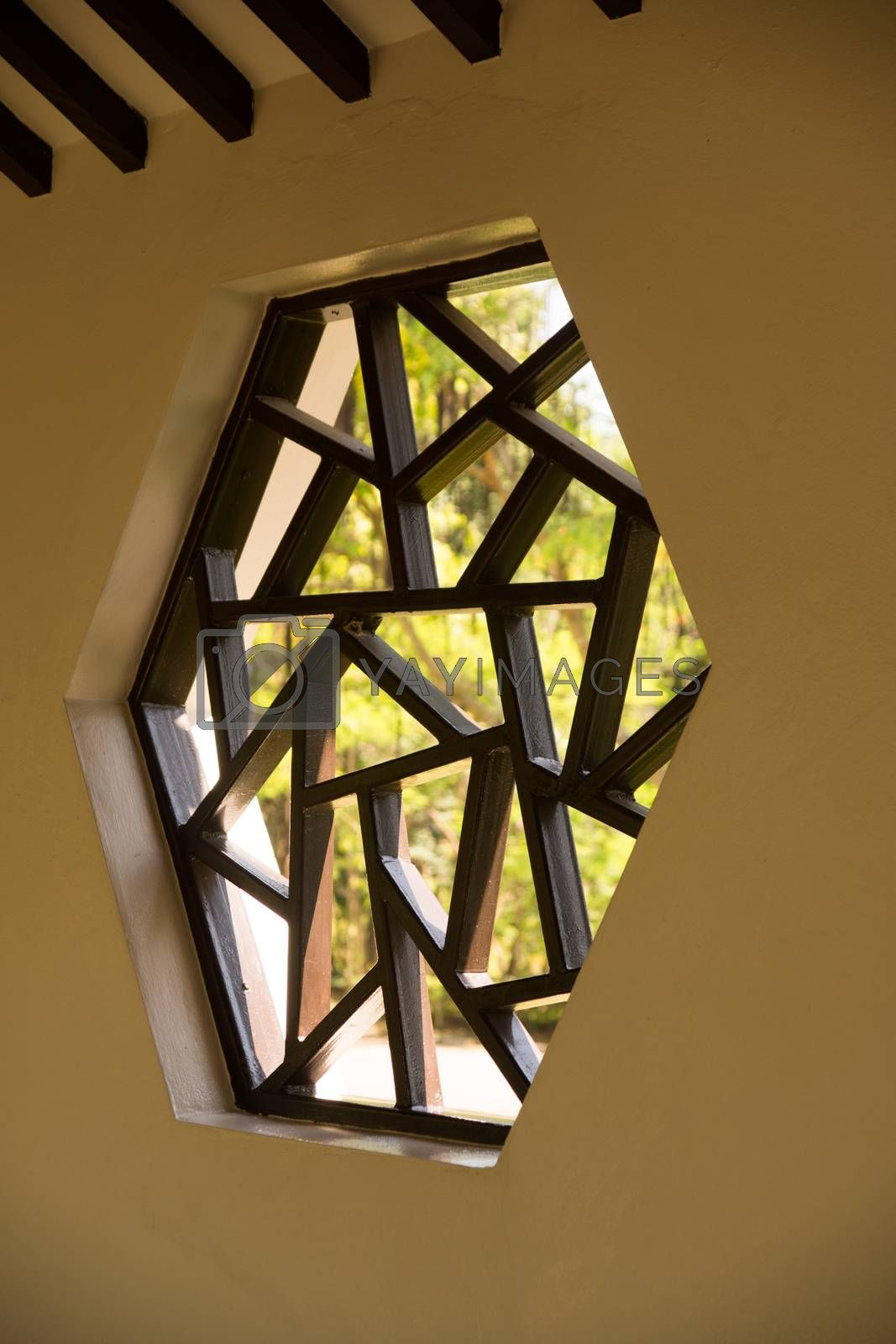 Royalty free image of chinese window by nattapatt