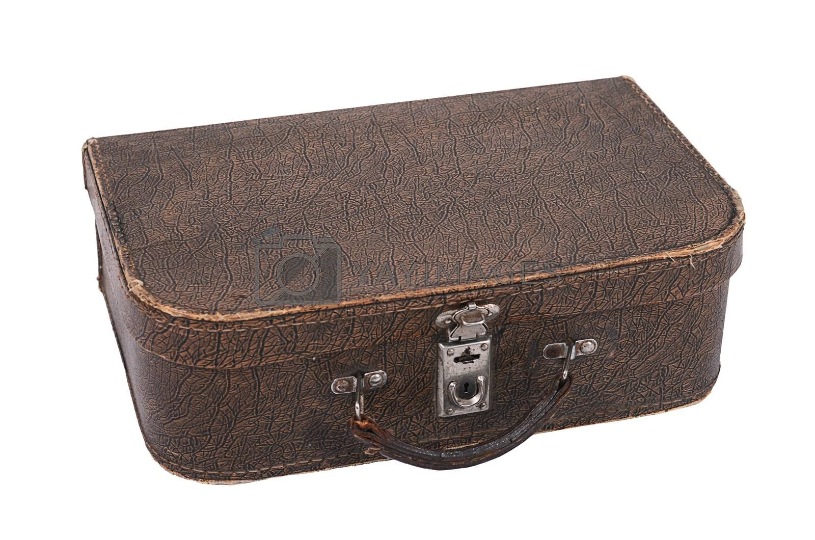 Royalty free image of Old suitcase isolated on white background by SvetaVo