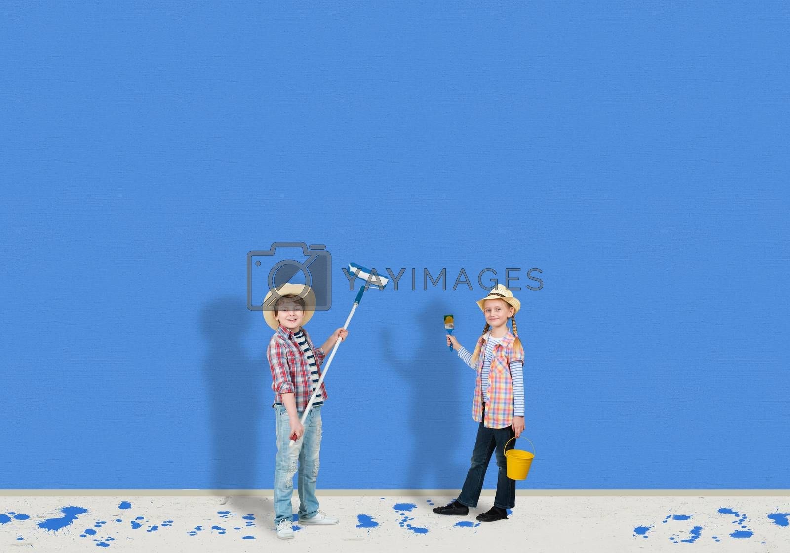 Royalty free image of children painters by adam121