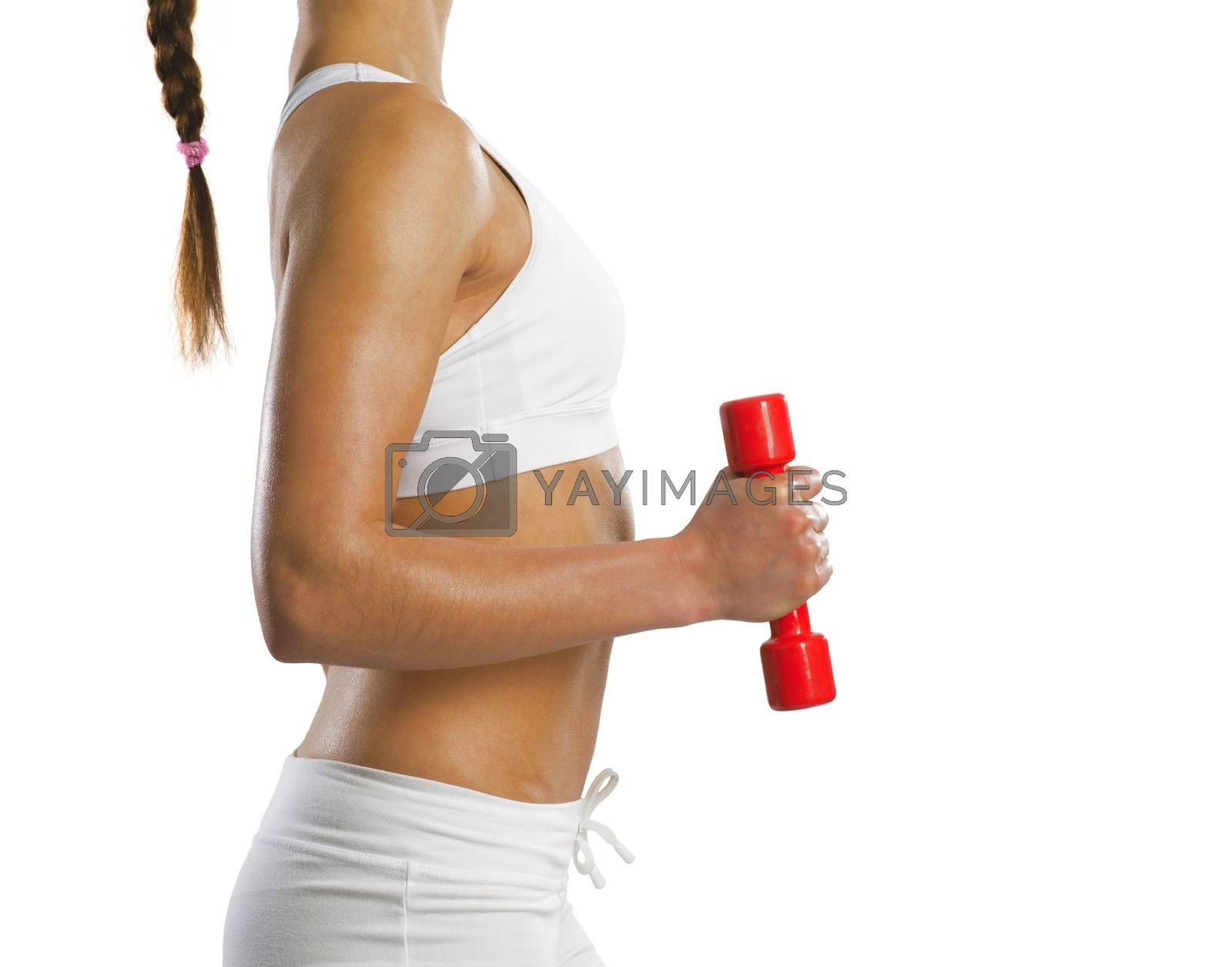 Royalty free image of sporty woman by adam121